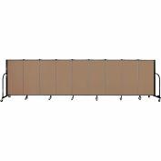 "Screenflex 9 Panel Portable Room Divider, 4'H x 16'9""L, Fabric Color: Beech"