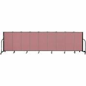 """Screenflex 9 Panel Portable Room Divider, 4'H x 16'9""""L, Fabric Color: Mauve"""