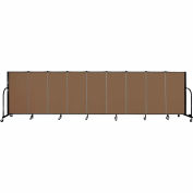 "Screenflex 9 Panel Portable Room Divider, 4'H x 16'9""L, Fabric Color: Oatmeal"