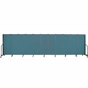 "Screenflex 11 Panel Portable Room Divider, 5'H x 20'5""L, Fabric Color: Lake"