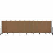 "Screenflex 11 Panel Portable Room Divider, 5'H x 20'5""L, Fabric Color: Walnut"