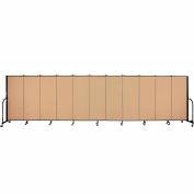 "Screenflex 11 Panel Portable Room Divider, 5'H x 20'5""L, Fabric Color: Desert"