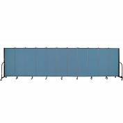 "Screenflex 11 Panel Portable Room Divider, 5'H x 20'5""L, Fabric Color: Summer Blue"