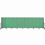 "Screenflex 11 Panel Portable Room Divider, 5'H x 20'5""L, Fabric Color: Sea Green"