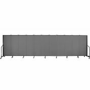 "Screenflex 11 Panel Portable Room Divider, 5'H x 20'5""L, Fabric Color: Grey"
