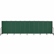 "Screenflex 11 Panel Portable Room Divider, 5'H x 20'5""L, Fabric Color: Green"