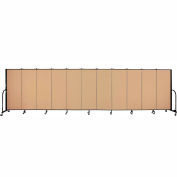 "Screenflex 11 Panel Portable Room Divider, 5'H x 20'5""L, Fabric Color: Wheat"
