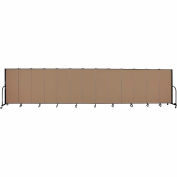"Screenflex 13 Panel Portable Room Divider, 5'H x 24'1""L, Fabric Color: Beech"
