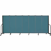 "Screenflex 7 Panel Portable Room Divider, 5'H x 13'1""L, Fabric Color: Lake"