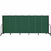 "Screenflex 7 Panel Portable Room Divider, 5'H x 13'1""L, Fabric Color: Green"