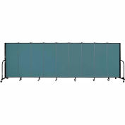 "Screenflex 9 Panel Portable Room Divider, 5'H x 16'9""L, Fabric Color: Lake"
