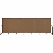 "Screenflex 9 Panel Portable Room Divider, 5'H x 16'9""L, Fabric Color: Walnut"