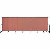 "Screenflex 9 Panel Portable Room Divider, 5'H x 16'9""L, Fabric Color: Cranberry"