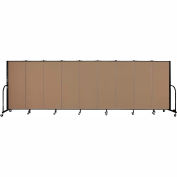 "Screenflex 9 Panel Portable Room Divider, 5'H x 16'9""L, Fabric Color: Beech"