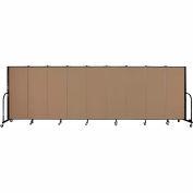 "Screenflex 9 Panel Portable Room Divider, 5'H x 16'9""L, Fabric Color: Beech"