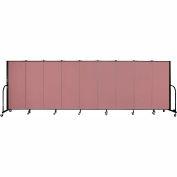 """Screenflex 9 Panel Portable Room Divider, 5'H x 16'9""""L, Fabric Color: Mauve"""