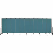 "Screenflex 11 Panel Portable Room Divider, 6'H x 20'5""L, Fabric Color: Lake"