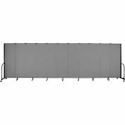 "Screenflex 11 Panel Portable Room Divider, 6'H x 20'5""L, Fabric Color: Stone"