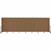 "Screenflex 11 Panel Portable Room Divider, 6'H x 20'5""L, Fabric Color: Walnut"
