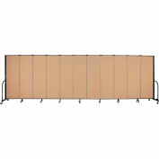 "Screenflex 11 Panel Portable Room Divider, 6'H x 20'5""L, Fabric Color: Desert"