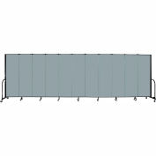 "Screenflex Portable Room Divider - 11 Panel - 6'H x 20'5""L -  Grey Stone"
