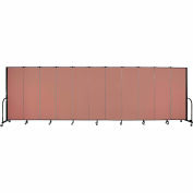 "Screenflex 11 Panel Portable Room Divider, 6'H x 20'5""L, Fabric Color: Cranberry"