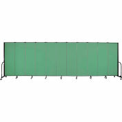 "Screenflex 11 Panel Portable Room Divider, 6'H x 20'5""L, Fabric Color: Sea Green"