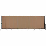 "Screenflex 11 Panel Portable Room Divider, 6'H x 20'5""L, Fabric Color: Beech"