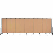 "Screenflex 11 Panel Portable Room Divider, 6'H x 20'5""L, Fabric Color: Sand"