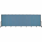 "Screenflex 11 Panel Portable Room Divider, 6'H x 20'5""L, Fabric Color: Blue"