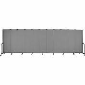 "Screenflex 11 Panel Portable Room Divider, 6'H x 20'5""L, Fabric Color: Grey"