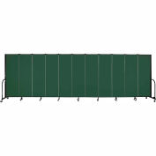"Screenflex 11 Panel Portable Room Divider, 6'H x 20'5""L, Fabric Color: Green"