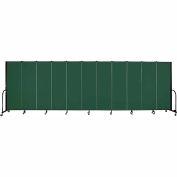 "Screenflex Portable Room Divider - 11 Panel - 6'H x 20'5""L -  Green"