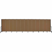 "Screenflex Portable Room Divider - 13 Panel - 6'H x 24'1""L -  Walnut"