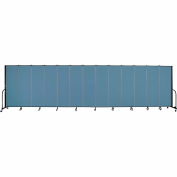 "Screenflex 13 Panel Portable Room Divider, 6'H x 24'1""L, Fabric Color: Summer Blue"