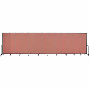 "Screenflex Portable Room Divider - 13 Panel - 6'H x 24'1""L -  Cranberry"