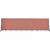 "Screenflex 13 Panel Portable Room Divider, 6'H x 24'1""L, Fabric Color: Cranberry"