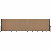 "Screenflex Portable Room Divider - 13 Panel - 6'H x 24'1""L -  Beech"