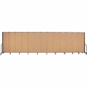 "Screenflex 13 Panel Portable Room Divider, 6'H x 24'1""L, Fabric Color: Sand"