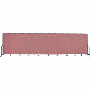 "Screenflex Portable Room Divider - 13 Panel - 6'H x 24'1""L -  Mauve"