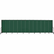 "Screenflex 13 Panel Portable Room Divider, 6'H x 24'1""L, Fabric Color: Green"