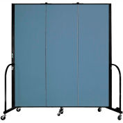 "Screenflex 3 Panel Portable Room Divider, 6'H x 5'9""L, Fabric Color: Summer Blue"