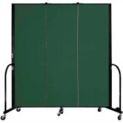 "Screenflex 3 Panel Portable Room Divider, 6'H x 5'9""L, Fabric Color: Green"
