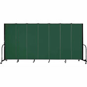 "Screenflex 7 Panel Portable Room Divider, 6'H x 13'1""L, Fabric Color: Green"