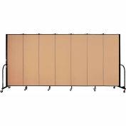 "Screenflex Portable Room Divider - 7 Panel - 6'H x 13'1""L - Wheat"