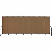 "Screenflex 9 Panel Portable Room Divider, 6'H x 16'9""L, Fabric Color: Walnut"