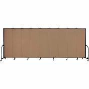 "Screenflex 9 Panel Portable Room Divider, 6'H x 16'9""L, Fabric Color: Beech"