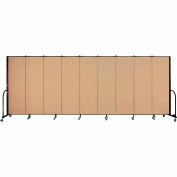 "Screenflex Portable Room Divider - 9 Panel - 6'H x 16'9""L - Wheat"