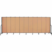 "Screenflex 11 Panel Portable Room Divider, 6'8""H x 20'5""L, Fabric Color: Desert"