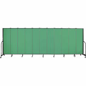 "Screenflex 11 Panel Portable Room Divider, 6'8""H x 20'5""L, Fabric Color: Sea Green"